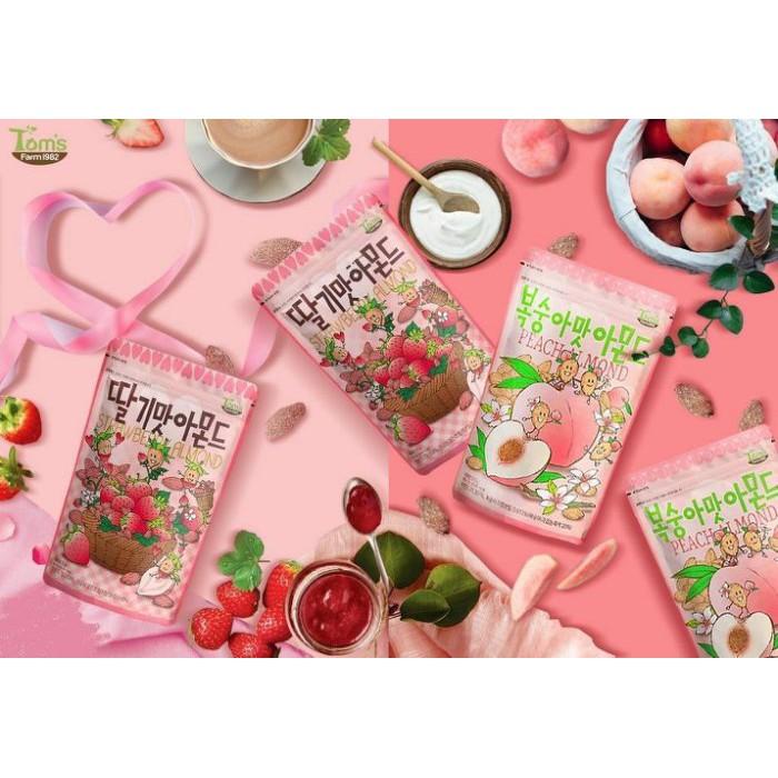 韓國超人氣必買堅果 Toms gilim 草莓口味杏仁果等十種口味 210g