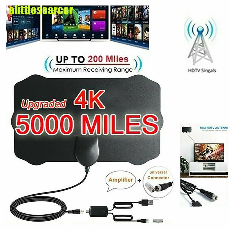 【 Aer 】 5000 英里範圍高清高清電視天線 4k 高清室內數字電視天線天線