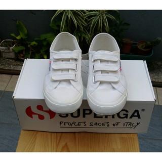 SUPERGA 帆布鞋 潮鞋 小白鞋魔鬼氈經典款(鞋號尺寸39號)因購買太小穿不下 臺中市