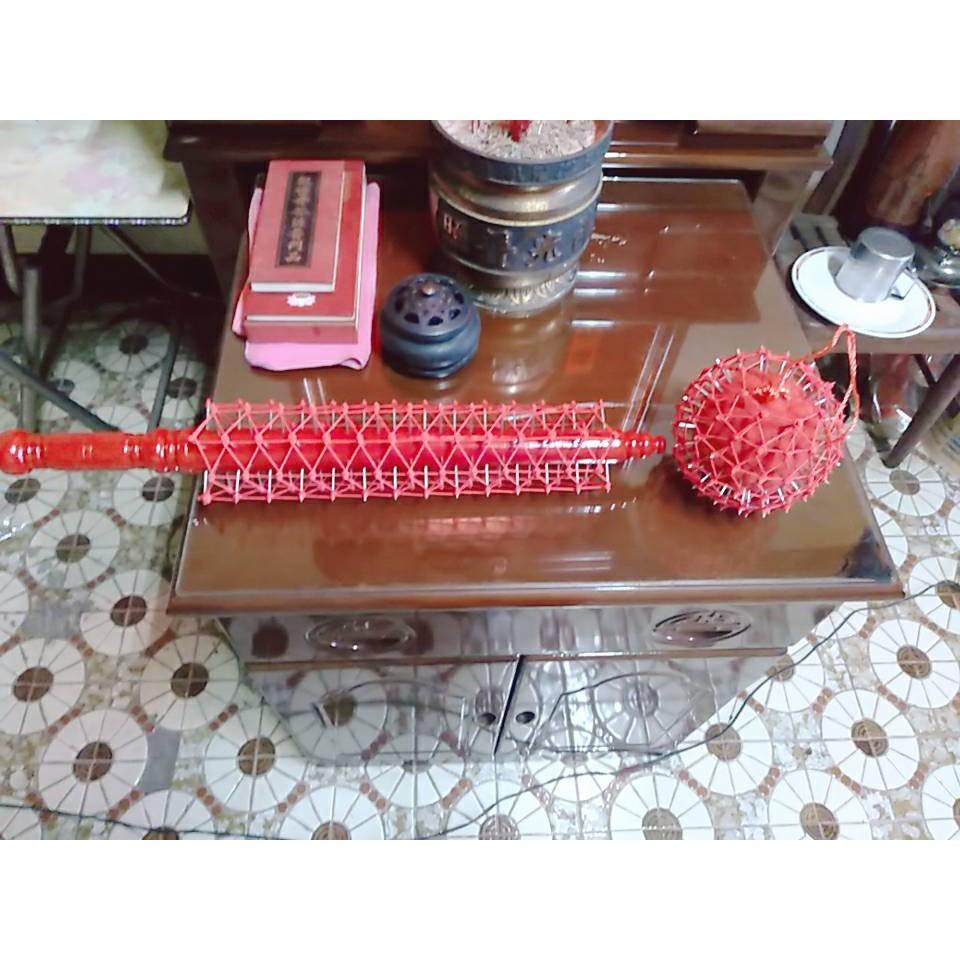 龍玄佛藝工作室108釘棍.刺球