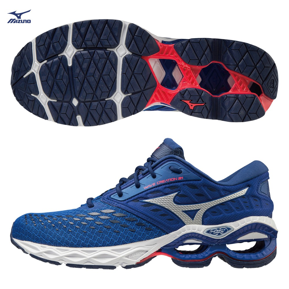MIZUNO WAVE CREATION 21 男鞋 慢跑 支撐型 柔軟 平衡 藍【運動世界】J1GC200101