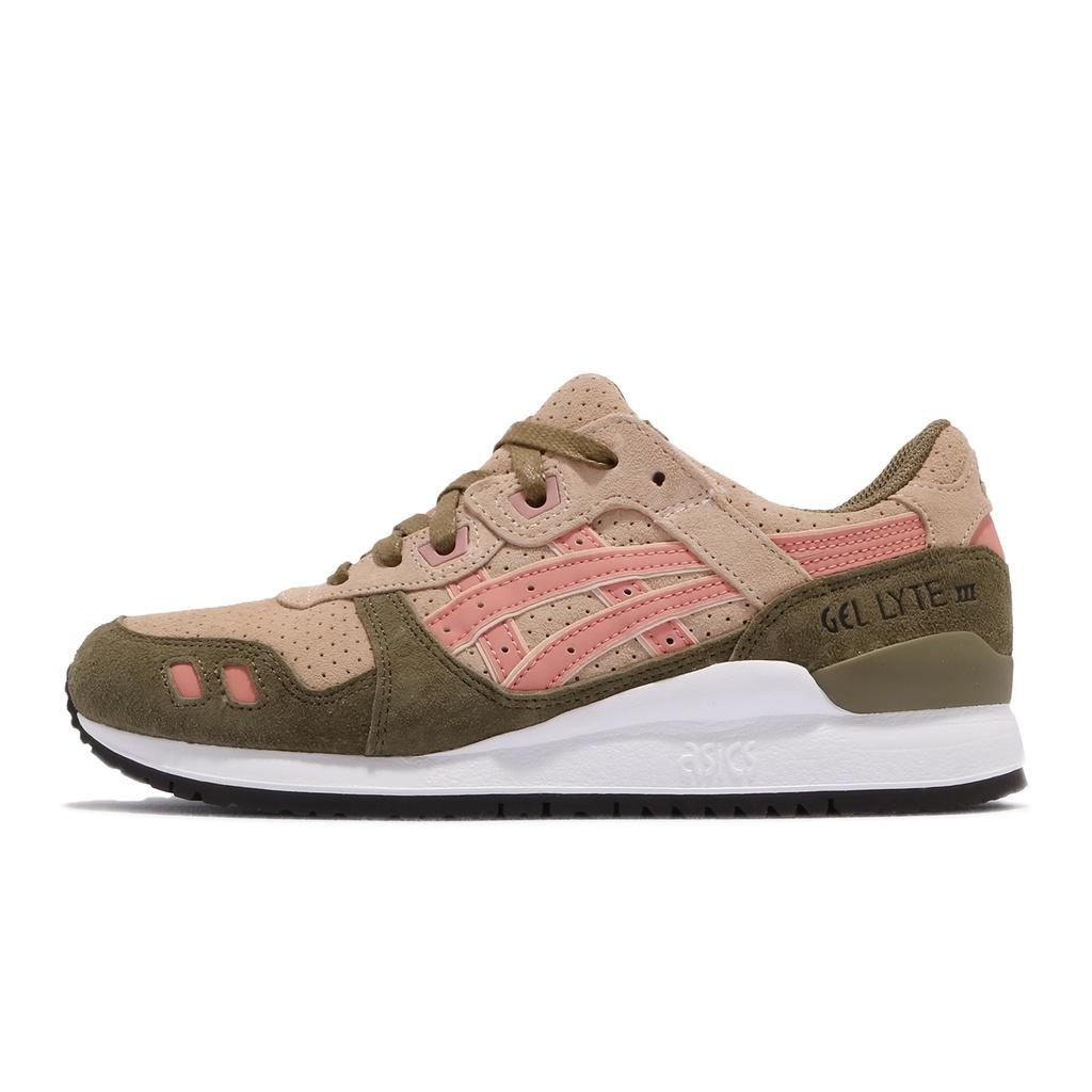 Asics 休閒鞋 Gel-Lyte III 米白 粉紅 綠 亞瑟士 經典 女鞋 復古【ACS】 H8B6L1725