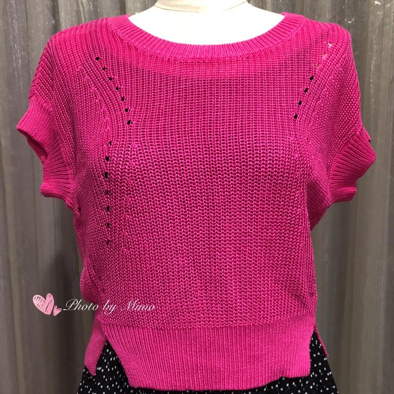 【蜜謀MIMO】MOMA全新桃紅色針織上衣 36碼