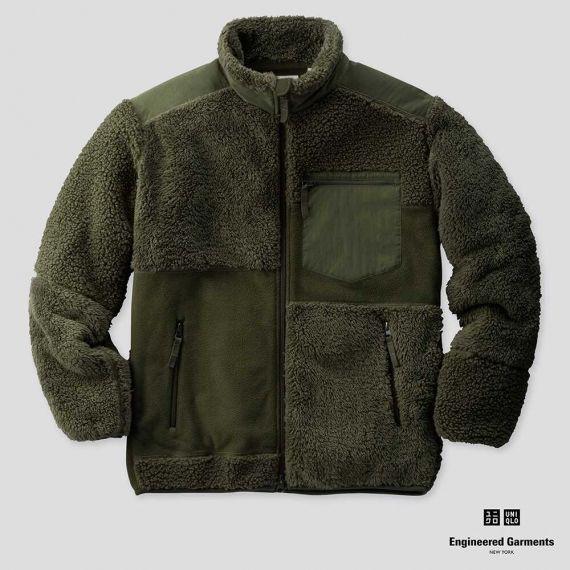 全新UNIQLO X Engineered Garments 聯名刷毛外套 搖粒絨 綠色XL