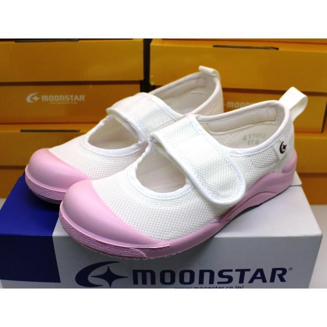 【艾莉絲童鞋】MoonStar日本月星機能童鞋-抗菌防滑絆帶室內鞋(日本製造生產的唷)(MSCN024)