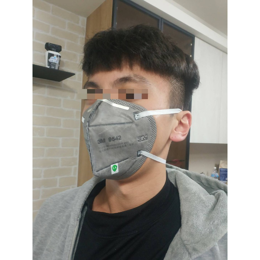 3M9542防塵/PM2.5/二手煙/室內裝修工程/甲醛/異味/活性炭口罩