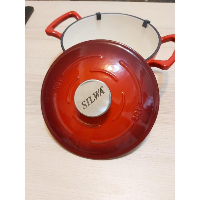 未用過  SILWA西華18cm琺瑯鑄鐵鍋