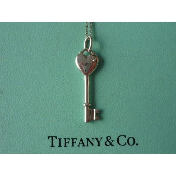 【TIFFANY】 真品 愛心 key 鑰匙 鑽石 項鍊