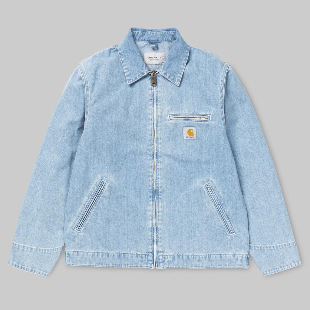 【搶手】全新正品 Carhartt WIP Detroit Jacket 春夏薄款 石洗藍 工作外套 騎士夾克