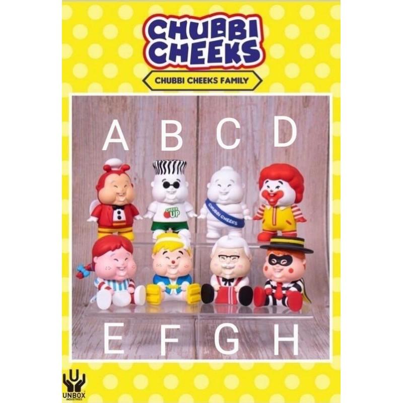 全新 確認款 UNBOX CHUBBI CHEEKS 肥仔BB盒玩 盲盒 胖子 小胖子 公仔 隱藏 麥當勞 肥仔