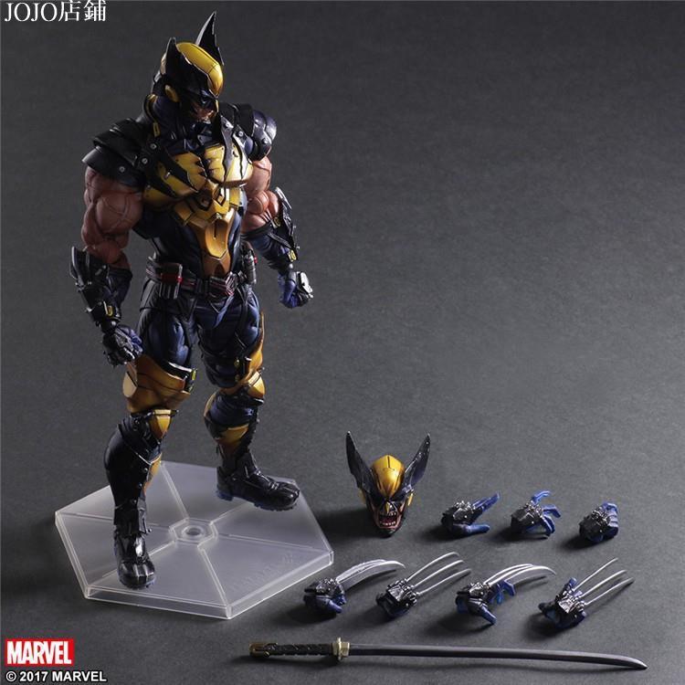 JOJO店鋪【可動】Play Arts 金鋼狼 Wolverine X戰警 變種人 羅根 Logan