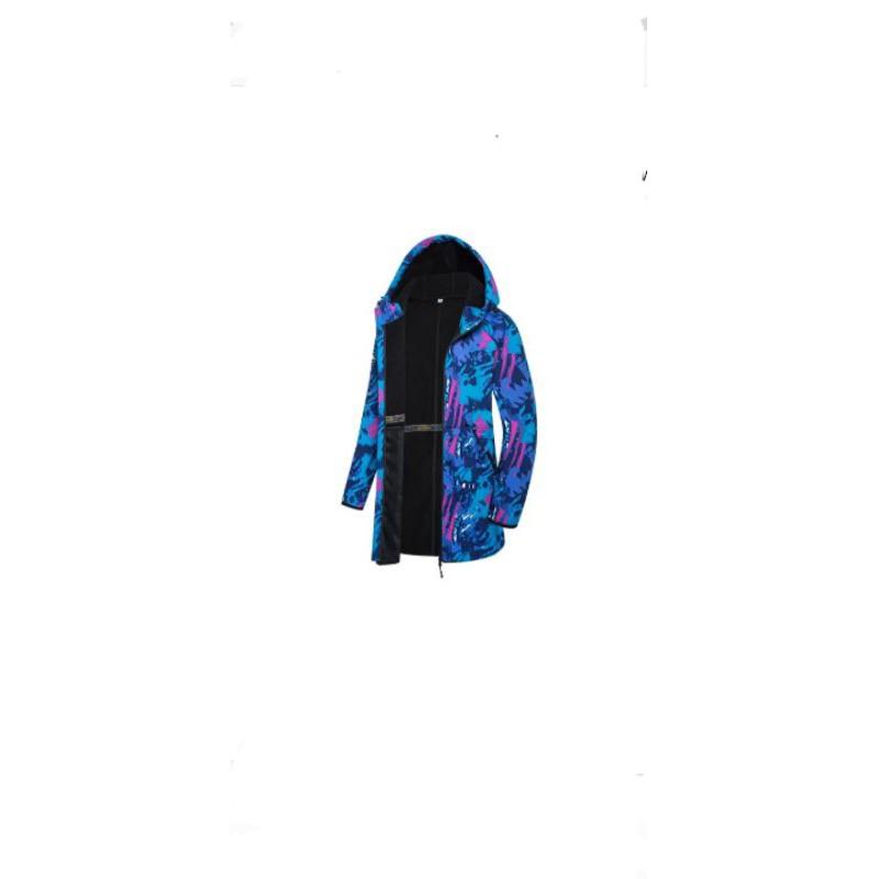 正品免運,One boy軟殼防潑水 迷彩藍色長版衝鋒外套
