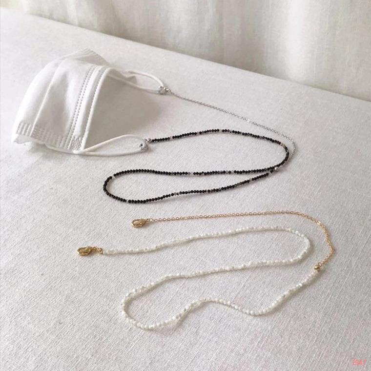 #諾亞方舟百貨舖#▥㍿口罩項鍊 口罩繩 復古珍珠口罩鍊 口罩掛繩 韓國流行 男女