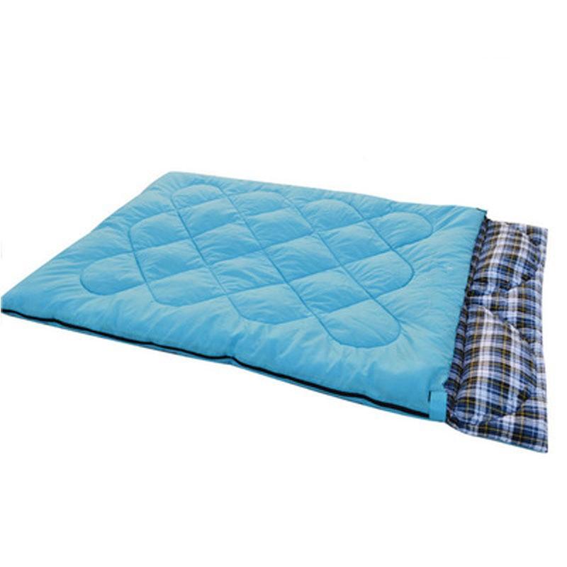 【熊居】雙人 戶外 情侶睡袋 時尚風 可拆分 帶枕頭