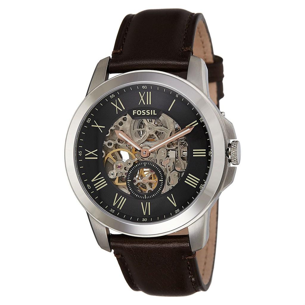 FOSSIL手錶 ME3095 前後鏤空 羅馬面盤 獨立秒針 機械錶款 皮帶款 錶現精品 原廠正貨