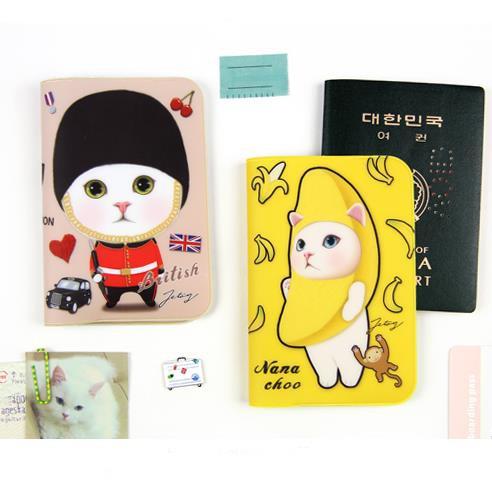 韓國進口JETOY可愛貓咪護照夾 港澳通行證件套 女生萌流行護照套 『不一樣文具店』