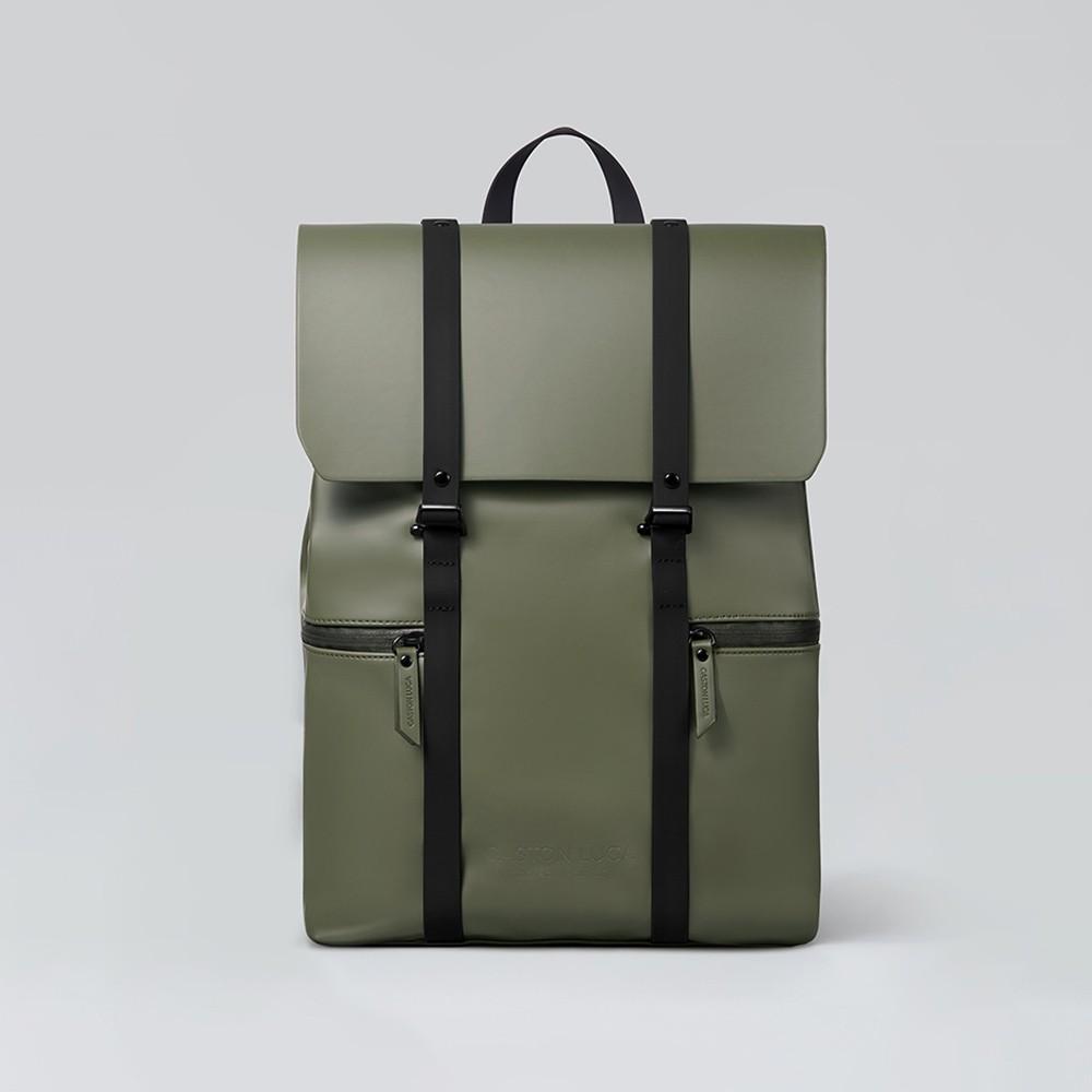 Gaston Luga 瑞典品牌 - Splash 13吋防水後背包 - 橄欖綠/經典黑(台灣公司貨)