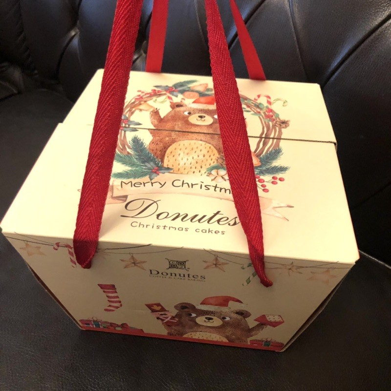 Donutes 多那之 手提蛋糕盒 手提紙盒 紙盒 蛋糕提盒 點心盒 收納盒 8吋蛋糕盒