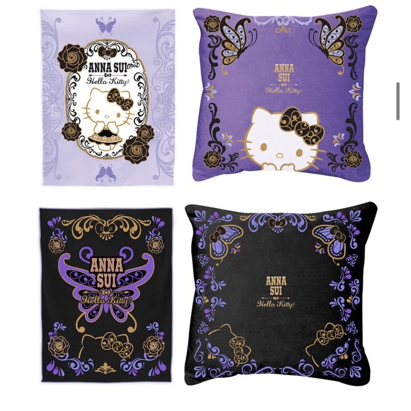 現貨 7-11 凱蒂 魔幻紫Kitty 鑰匙圈「ANNA SUI x三麗鷗」集點送手提袋、證件套 絕美夜燈、抱枕保暖毯
