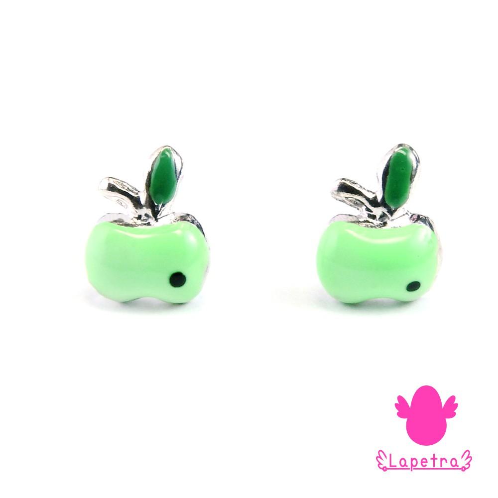 【西班牙 La Petra】925純銀 青蘋果耳環