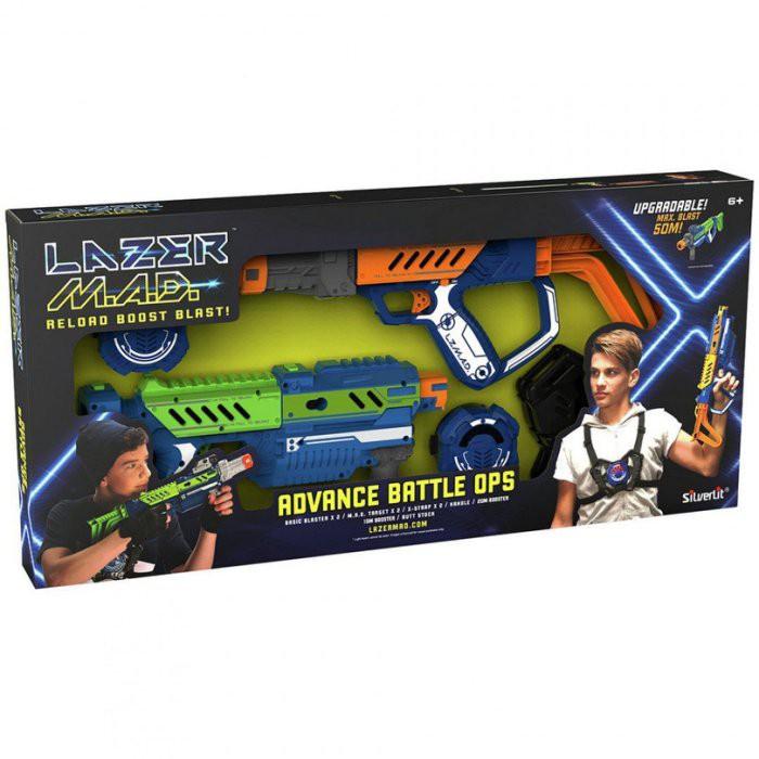 【Silverlit】瘋狂雷射槍-豪華雙槍組合包 / 公司貨 / 雷射槍 / LAZER / 玳兒玩具