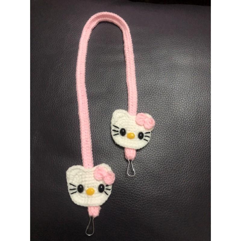 kitty兒童口罩掛繩★★純手工 毛線編織 口罩帶 防丟繩 口罩掛帶 口罩繩