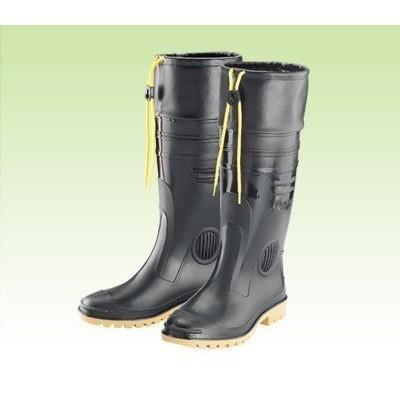 【登山雨鞋】長筒雨鞋 高級男用全長雙色雨鞋-護口型(加長皮套) 皇力牌【配配大賣場】