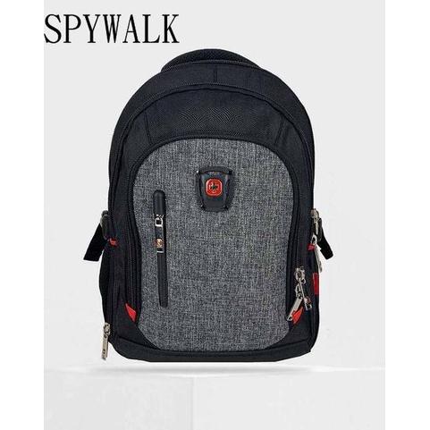 【免運】SPYWALK 勝德豐 筆電後背包 休閒後背包 書包 胸扣 #7206-1灰色