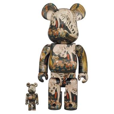 BE@RBRICK 歌川國芳 相馬の古内裏 400%100% bearbrick 庫柏熊 積木熊