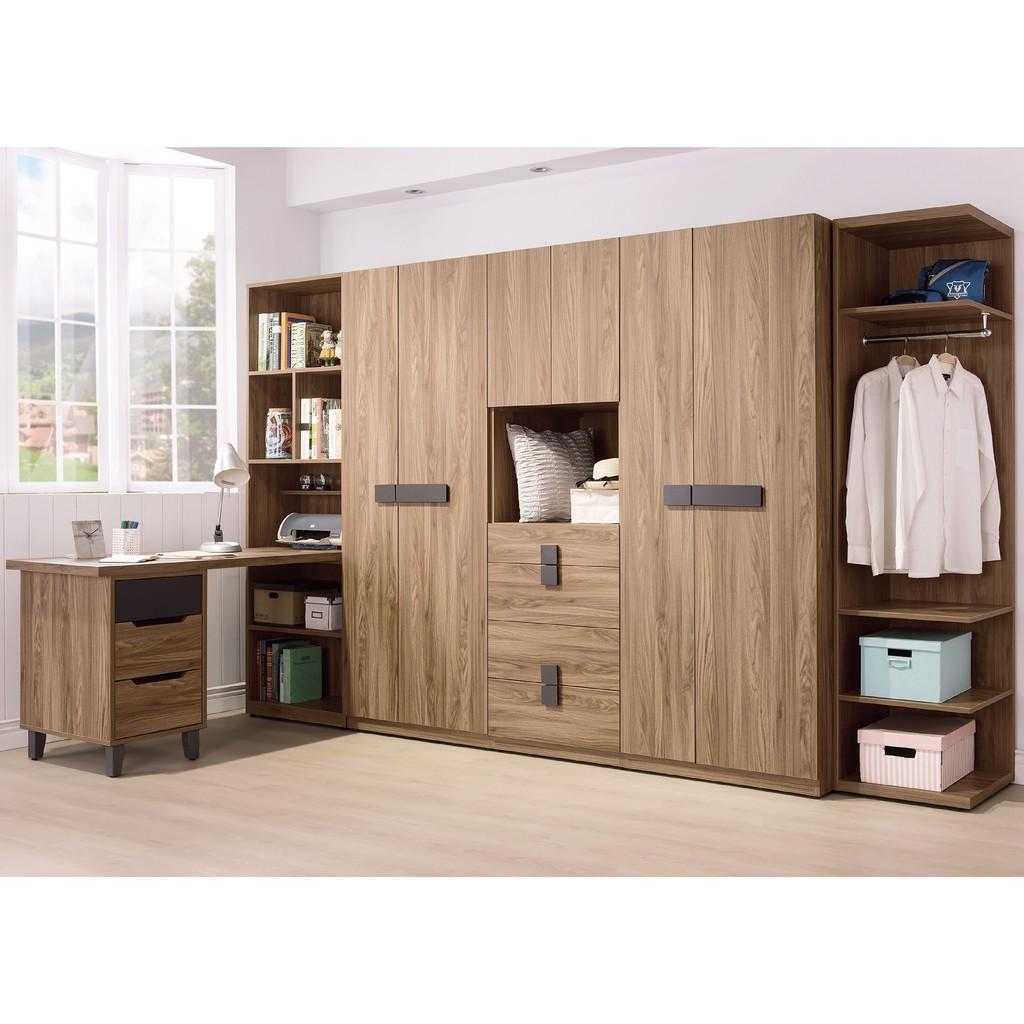 【318cm組合衣櫃-B94-01】木心板 推門滑門開門 衣服收納 免組裝【金滿屋】