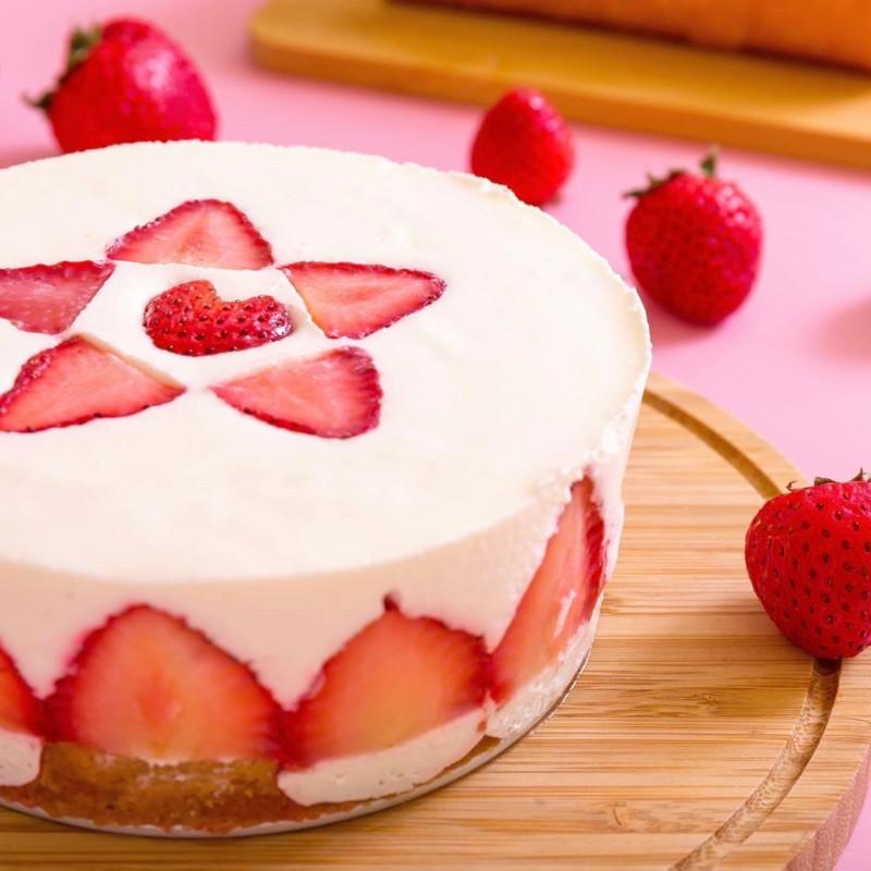 [甜野新星]草莓生乳酪(無糖無麩質)(生酮可食)(葷)