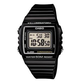【KAPZZ】CASIO 卡西歐 方形數字錶大型的液晶錶面防水50米LED背光照明W-215H-1A 桃園市