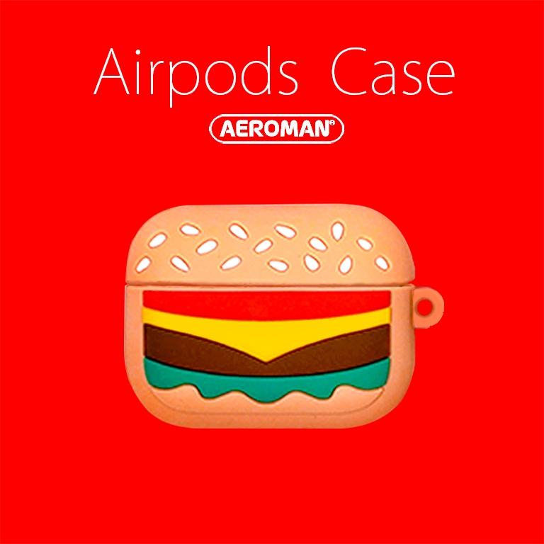 airpods pro 保護套 漢堡 速食 薯條 可樂 柴犬 秋田狗 鈴鐺