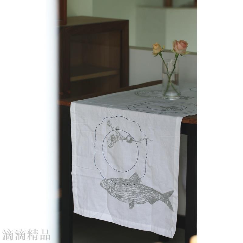 荷蘭 Pip studio Royal White 皇傢藍白 茶巾/桌旗