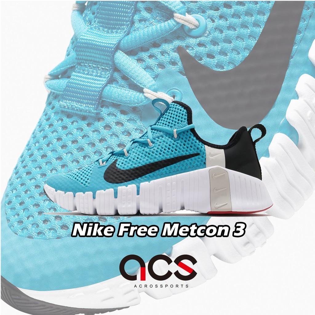 Nike 訓練鞋 Free Metcon 3 藍 黑 白 重訓 健身專用 男鞋【ACS】 CJ0861-410