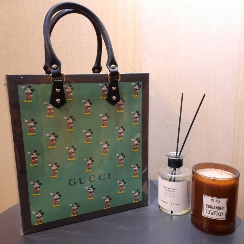 🇹🇼Gucci 紙袋改造 古奇紙袋包 米奇紙袋加工包 紙袋材料包 紙袋改造包DIY