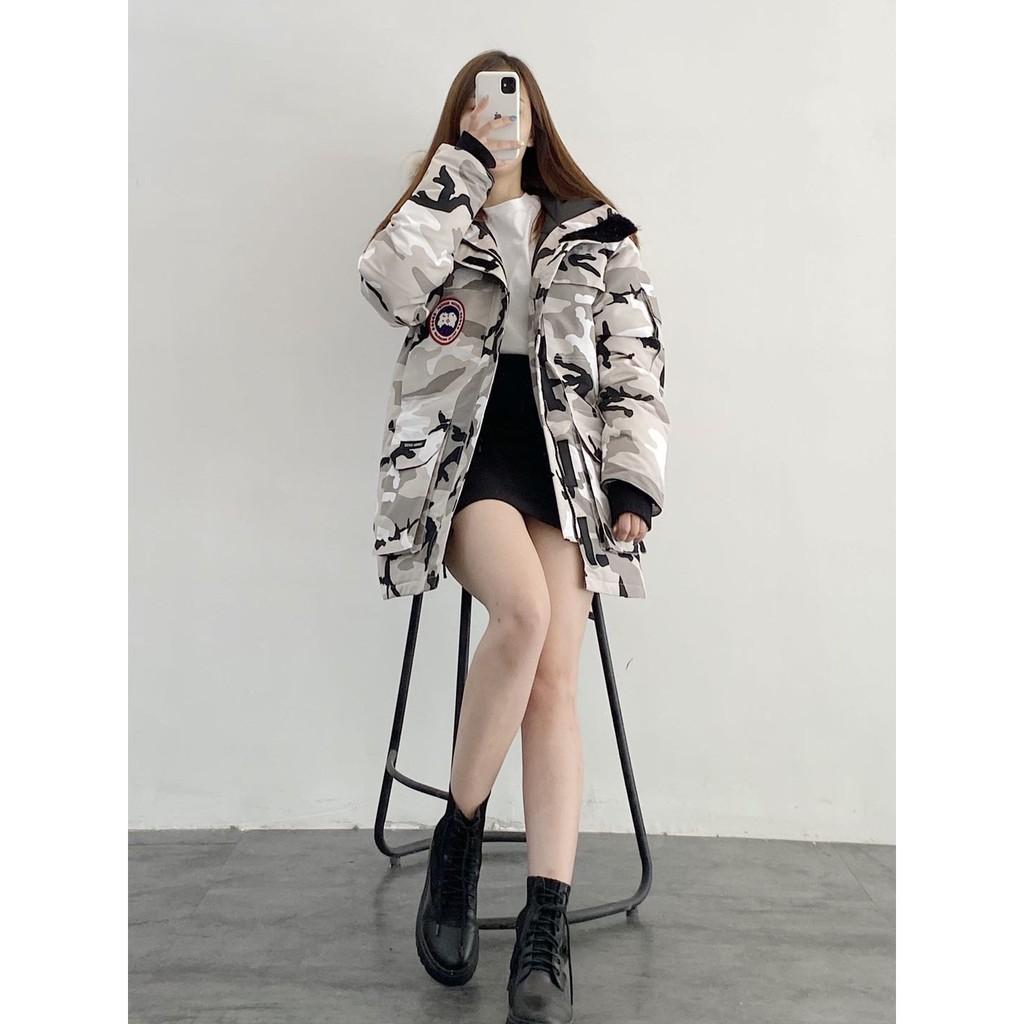 ㊣上市Canada Goose加拿大鵝 情侶羽絨服  男女款迷彩羽絨外套  防風厚款外套 eo11398619