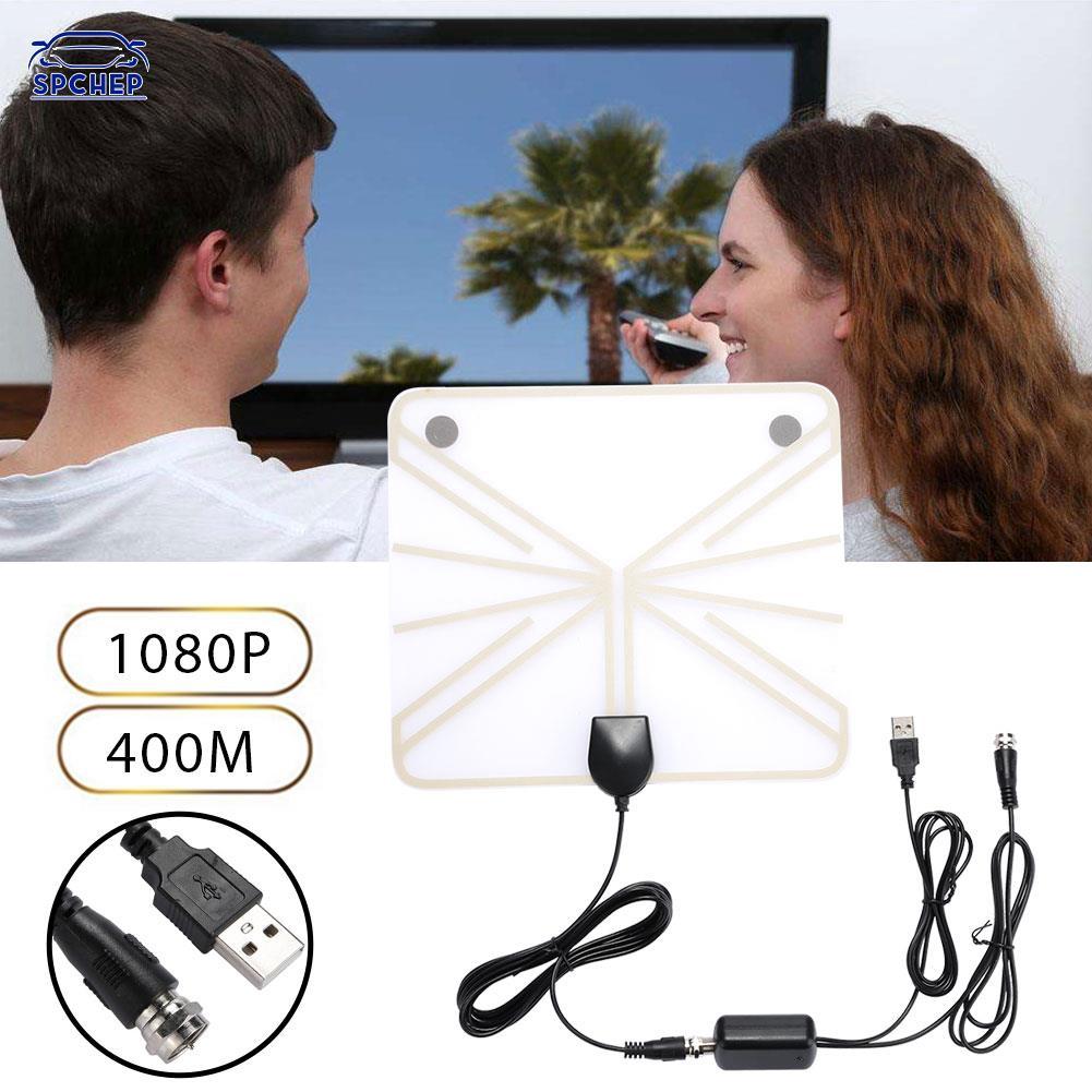 CHEP 80英里範圍數字電視高清4K HDTV天線80英里範圍數字電視高清4K HDTV天線超薄信號Freeview
