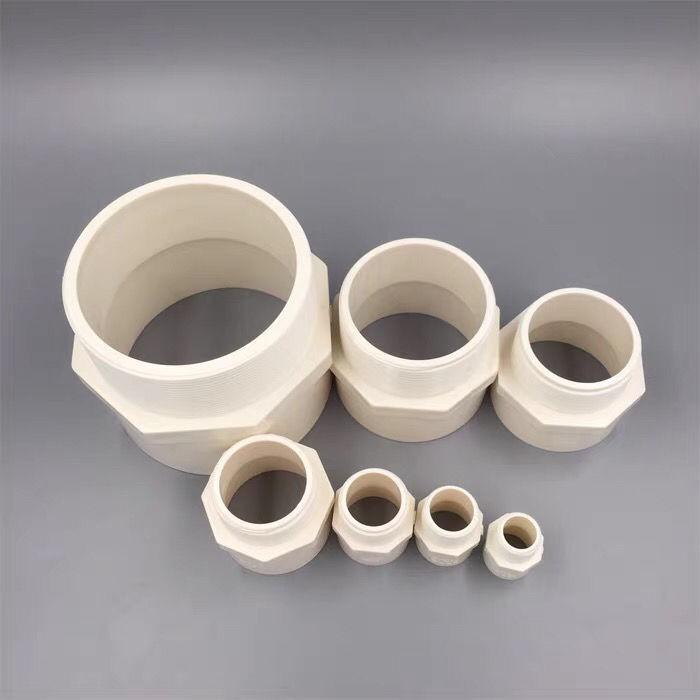 pvc外絲直接頭給水外牙直通接口20 4分25 6分32 50水管配件管件