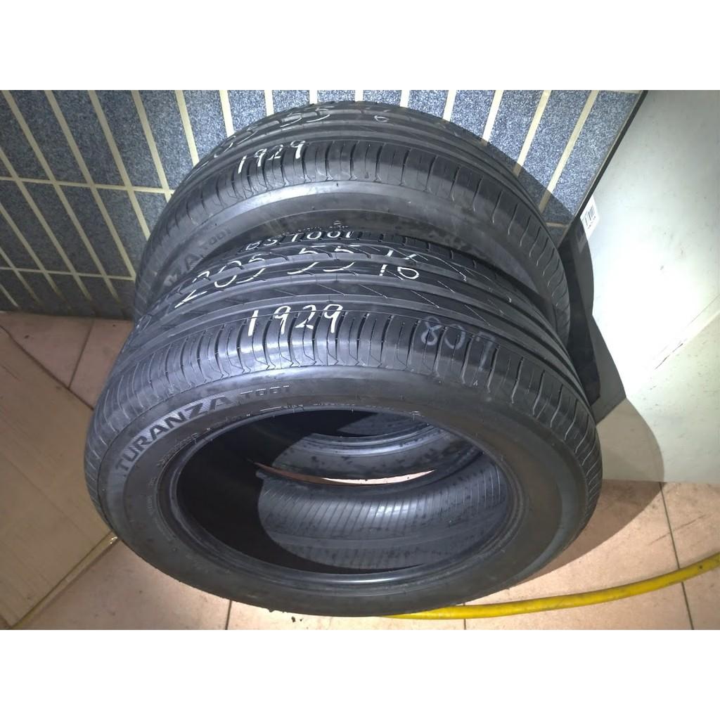205 55 R 16 普利司通 T001 19年製造 9成新 落地胎 二手 中古 輪 胎 一輪1500元
