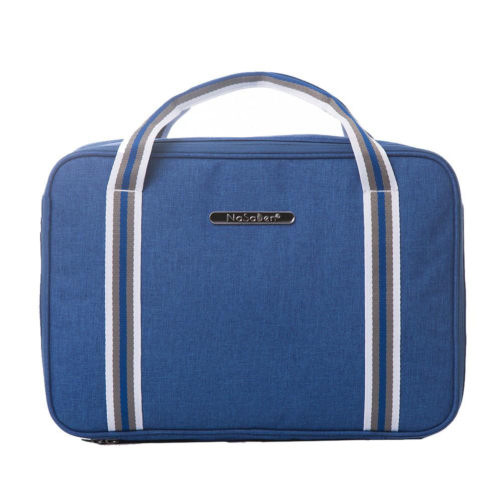 【NaSaDen】【鎏金版】雪佛包-肩背/手提/穿套行李箱-/收納袋/行李袋-相當一個16吋的行李箱-萊茵藍