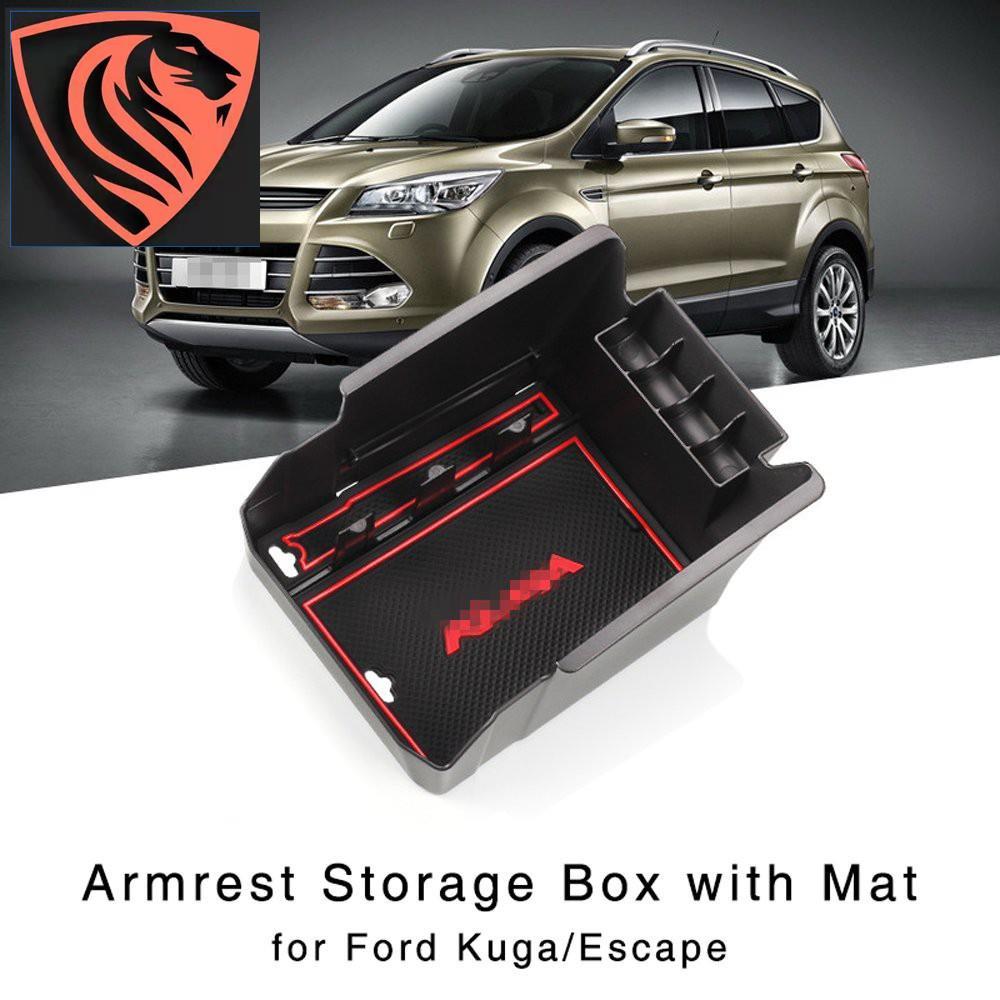 福特Kuga Escape 2013-2015中央控制檯手套托盤的扶手收納盒