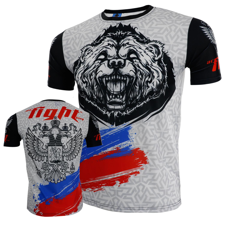 ARFIGHTKING正品健身格鬥運動速乾短袖UFC搏擊MMA泰拳T恤訓練柔術