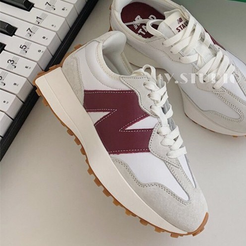 降價 New Balance 327 NB x STAUD 聯名款 酒紅色 新款 nb327 奶油色 女鞋 休閒鞋