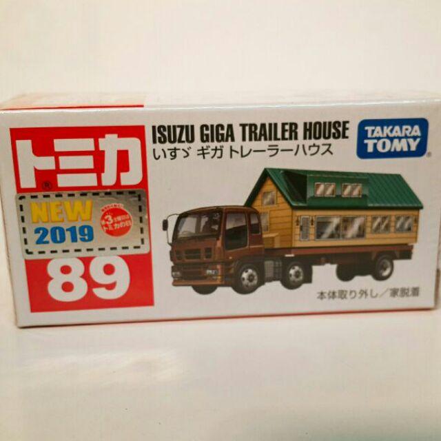 日版Tomica 多美合金車 No.89  Isuzu Trailer House  五十鈴 拖車屋 房屋搬運車 工程車