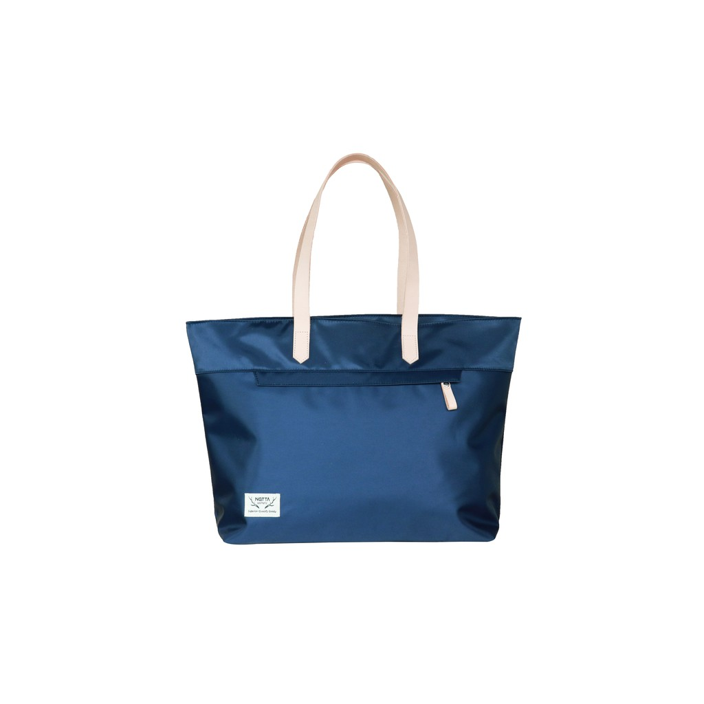 NETTA日光植柔 / 職人手感托特包-藍 / 多口袋托特包