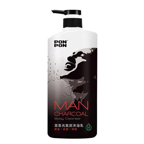 澎澎MAN元氣炭控油沐浴乳1200g【愛買】