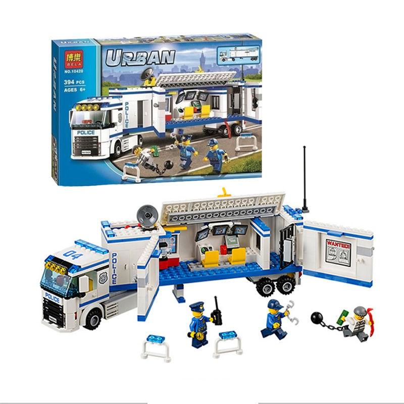 現貨·兼容樂高城市系列警察局流動警署兒童益智拼插積木玩具博樂10420