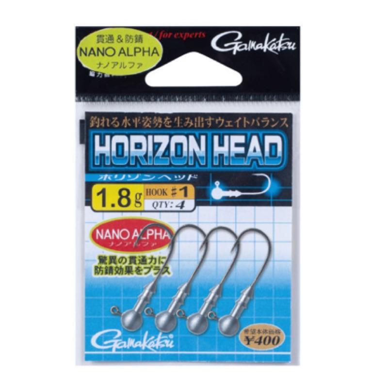Gamakatsu Horizon Head 水平泳姿 鉛頭鉤 根魚 石斑