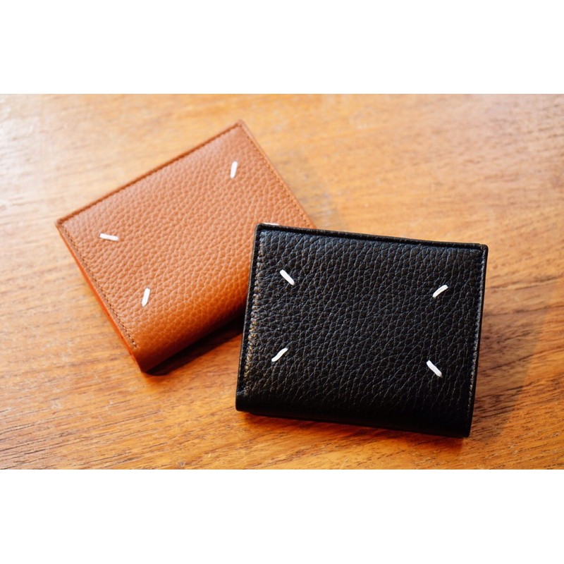 maison margiela / grain leather small wallet 皮革短夾